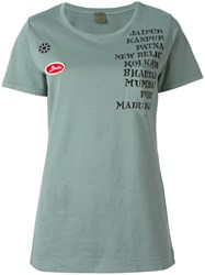 Mr And Mrs Italy Embellished Patch T Shirt Green