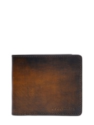 Dsquared Faded Vintage Leather Wallet Brown