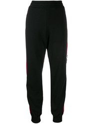Msgm Logo Track Pants Black