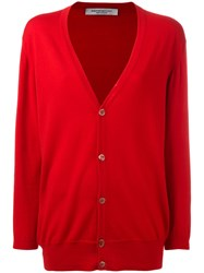 Edamame London Twinset Cardigan Women Virgin Wool 3 Red