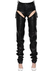 Y Project Cutout Transformer Leather Pants