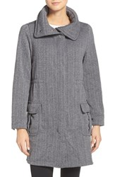 Patagonia Women's 'Better Sweater' Fleece Coat Tinsmith Grid Feather Grey
