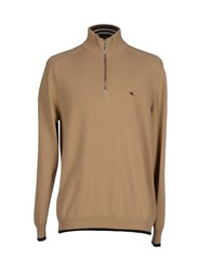 Etro Knitwear Turtlenecks Men Sand