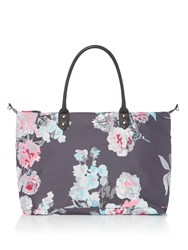 Joules Printed Canvas Overnight Bag Multi Coloured Multi Coloured