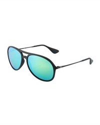 Ray Ban Aviator Sunglasses With Mirror Lenses Green