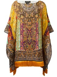 Etro Printed Draped Tunic Women Silk Viscose One Size