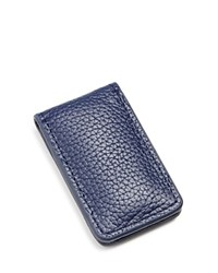 The Men's Store At Bloomingdale's Leather Money Clip With Magnetic Closure Navy