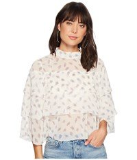 Bishop Young Pailey Ruffle Blouse Print Clothing Multi