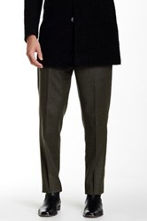 Gi Capri Flat Front 1 4 Top Pocket Wool Pant Green
