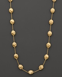 Marco Bicego Siviglia Collection Large Bead Necklace In 18 Kt. Yellow Gold