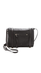 Linea Pelle Hunter Messenger Bag Black
