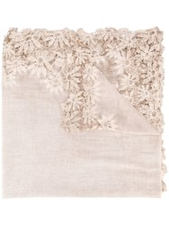 Faliero Sarti Embroidered Floral Skirt Neutrals