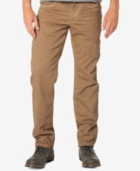 Silver Jeans Co. Men's Eddie Relaxed Fit Tapered Stretch Taupe