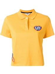 Tommy Hilfiger Patch Detail Polo Shirt Yellow Orange