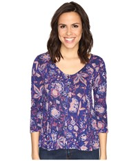 Lucky Brand Floral Swing Top Multi Women's Clothing