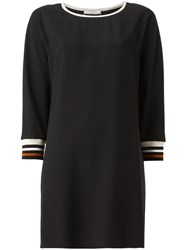 Bouchra Jarrar Ribbed Cuff Shift Dress Black