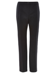 Viyella Long Straight Leg Trousers Navy