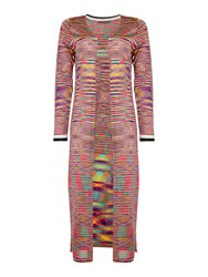 Oui Multi Stipe Long Cardigan Multi Coloured Multi Coloured