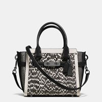 Coach Swagger 21 In Snake Dk Chalk Black