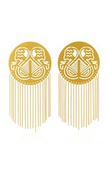 Paula Mendoza Pacha Gold Plated Brass Earrings