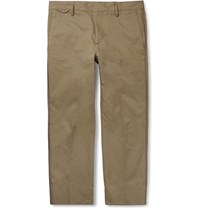 Marc Jacobs Cropped Cotton Trousers Green