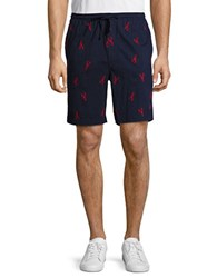 Nautica Lobster Print Cotton Shorts Navy