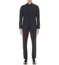 Paul Smith Soho Fit Single Breasted Wool And Mohair Blend Suit Navy