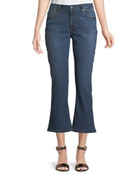 Evidnt Cropped Flare Jeans Blue