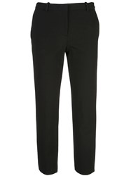 Theory Cropped Mid Rise Trousers Black