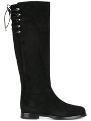 Le Silla Lace Up Boots Black