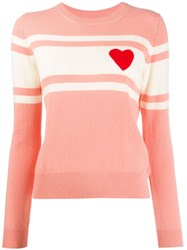 Chinti And Parker Knitted Heart Striped Jumper 60