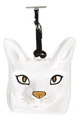 Loewe Women's Cat Face Bag Charm Transparent