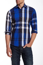 Brio Plaid Long Sleeve Contemporary Fit Shirt Multi