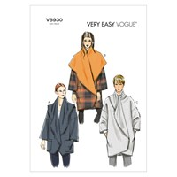 Vogue Very Easy Women's Cocoon Coat Sewing Pattern 8930