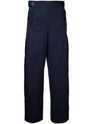 Sacai Sailor Button Side Pleated Trousers Blue