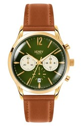 Henry London Chiswick Chronograph Leather Strap Watch 41Mm