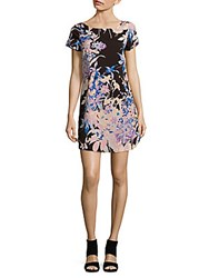 Yumi Kim Floral Printed Boatneck Dress Black Hawaii