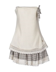 Duck Farm Short Dresses Grey