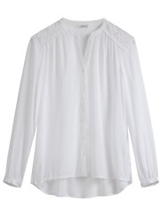 Sandwich Embroidered Detail Blouse White