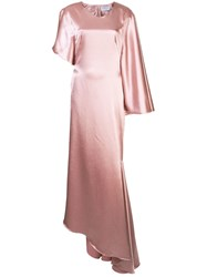 Osman Minellie Draped Gown Pink