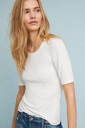 Pure Good Miranda Striped Tee Ivory