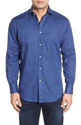 Men's Thomas Dean Classic Fit Dot Sport Shirt