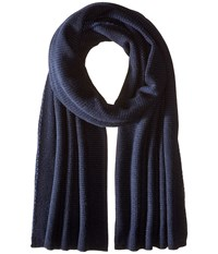 Vince Luxe Thermal Blanket Scarf Heather Twilight Blue Scarves Navy