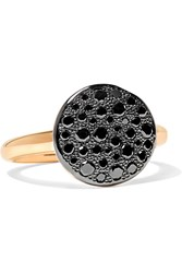 Pomellato Sabbia 18 Karat Rose Gold Diamond Ring Rose Gold Black