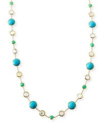 Ippolita 18K Gold Rock Candy Lollitini Necklace In Pacific 36 Bright Blue