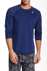 Asics Lyte Long Sleeve Shirt Blue