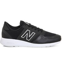 New Balance 420 Low Top Mesh Trainers Black White