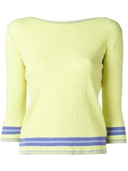 Ermanno Scervino Three Quarter Sleeve Sweater Green