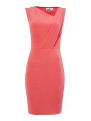 John Zack Sl Cross Over Top Dress Pink
