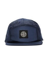 Stone Island Blue Logo Embroidered Patch Hat